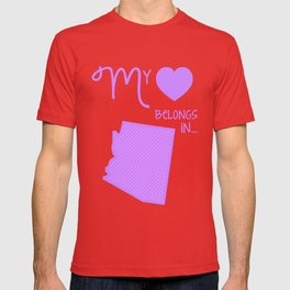 My Heart Belongs in Arizona T-shirt
