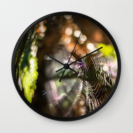 Spiderweb bokeh Wall Clock