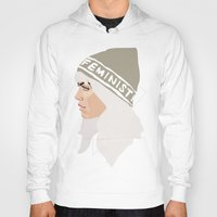 feminist Hoodies featuring Feminist (Silver) by Anna McKay