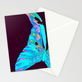 Turquoise Butterfly On A Dark Background #decor #buyart #society6 Stationery Cards
