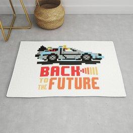 Back to the future: Delorean Rug