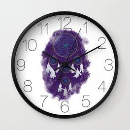 Classic Dreamcatcher 2: Purple background Wall Clock