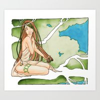 Lady of the Trees Art Print