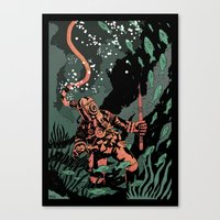 diver Canvas Prints featuring Diver by Rafael T. Pimentel