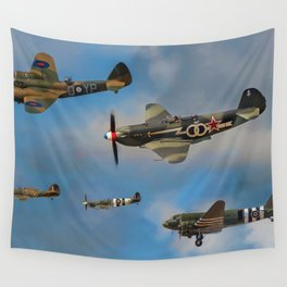 Vintage Aircraft Wall Tapestry