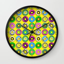 retro skate wheels Wall Clock