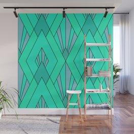 Emerald Art Deco Pattern Wall Mural