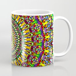 Happy Colorful Jungle Garden Mandala Coffee Mug