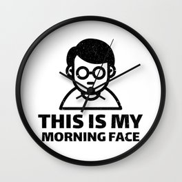 MORNING FACE Wall Clock