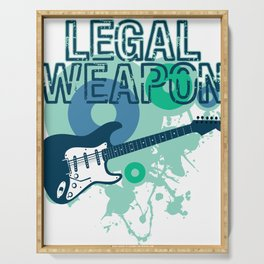 """""""Legal Weapon"""" for music lovers and musically inclined persons all over the world! Serving Tray"""