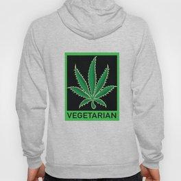 Vegetarian Marijuana Leaf Hoody