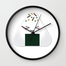 Happy onigiri Wall Clock