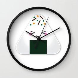 Happy onigiri Wall Clock