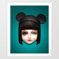 misfits Art Prints featuring Misfit - Abigail by Raymond Sepulveda