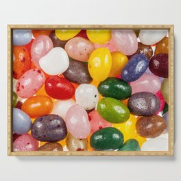 Cool colorful sweet Easter Jelly Beans Candy Serving Tray