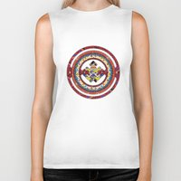 totem Biker Tanks featuring Totem by Robin Curtiss