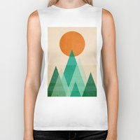 mountains Biker Tanks featuring No mountains high enough by Picomodi