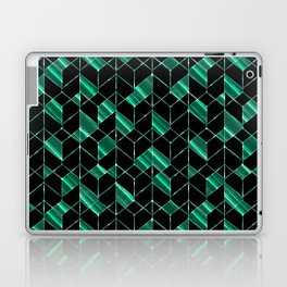 Black,turquoise geometric pattern. Laptop & iPad Skin