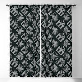 Decoish - White on Black - Set 9 Blackout Curtain