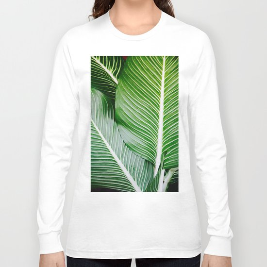 palm leaf pattern Long Sleeve T-shirt