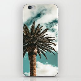 Lush Palm {1 of 2} / Teal Blue Sky Tree Leaves Art Print iPhone Skin