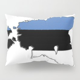 Estonia Map with Estonian Flag Pillow Sham