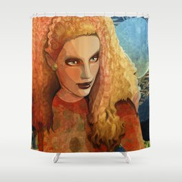 Autumn moon Shower Curtain