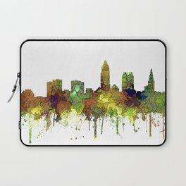 Cleveland, Ohio Skyline SG - Safari Buff Laptop Sleeve
