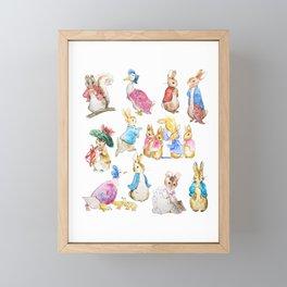 Tales of Peter Rabbit  characters Beatrix Potter Framed Mini Art Print
