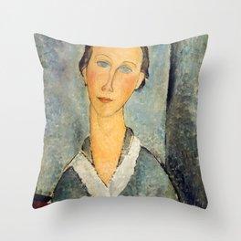 "Amedeo Modigliani ""Girl in a Sailor's Blouse"" Throw Pillow"