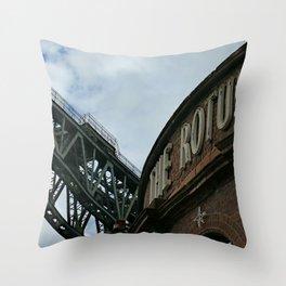 Down Finnieston Way,  Glasgow, Scotland Throw Pillow