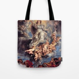 Pieter-Paul Rubens; Assumption of the Devine and Holy Virgin Mary Tote Bag