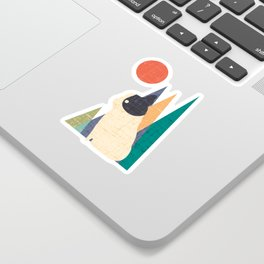 Waiting for You French Bulldog Sticker