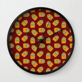 Fuzz Pattern Wall Clock