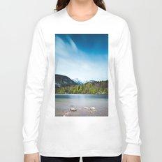 Lake Bohinj with Alps in Slovenia Long Sleeve T-shirt