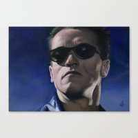 terminator Canvas Prints featuring Terminator by Osvaldo Sosa