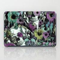 sandman iPad Cases featuring Mrs. Sandman, melting rose skull pattern by Kristy Patterson Design