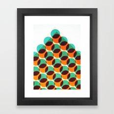 Peak of dots Framed Art Print
