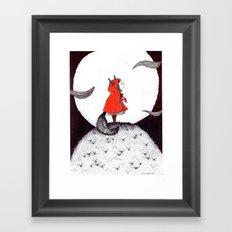 Red Riding Howl Framed Art Print