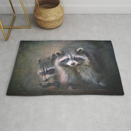 The two Raccoons.. Rug