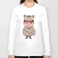 mouse Long Sleeve T-shirts featuring Mouse by Carmen Sarrion