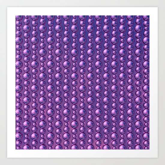 Bead Pattern, Magenta Art Print