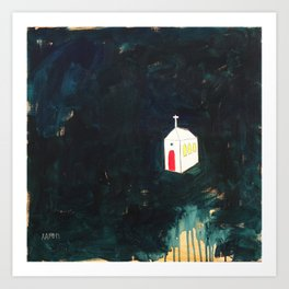 Church on Dark Art Print
