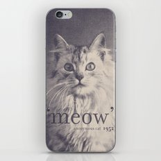 Famous Quotes #2 (anonymous cat, 1952) iPhone & iPod Skin