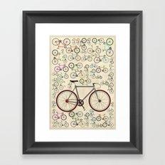Love Fixie Road Bike Framed Art Print