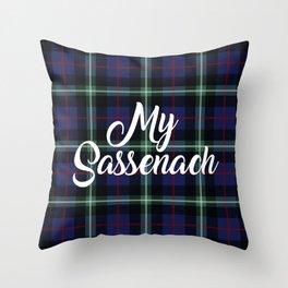 My Sassenach - Blue & Green Throw Pillow