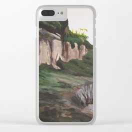 Luccombe Beach Clear iPhone Case