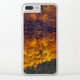 Autumn leaves fell like flowers Clear iPhone Case