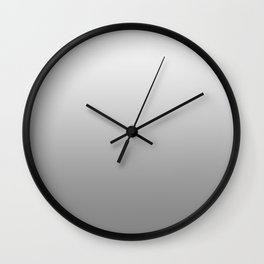 White to Gray Horizontal Linear Gradient Wall Clock