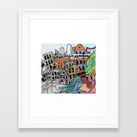 community Framed Art Prints featuring Community by sam kirk